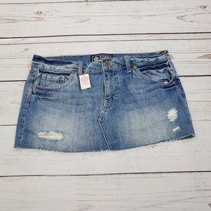 NWT LOVE Pink Jean Skirt Skorts Size 8   $40 MSRP